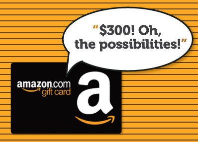 Win this $300 Amazon Gift Card on December 12th!