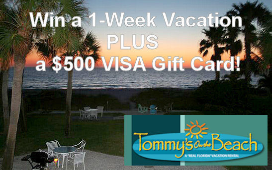 $2,400 Beach Vacation includes $500 Visa Gift Card!