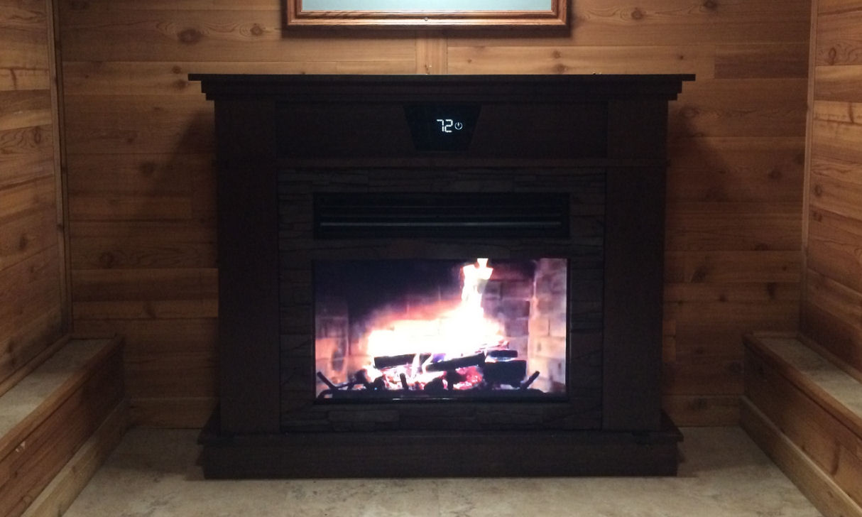 You could Win this $5,000 Heating A/C HiDef TV Fireplace!